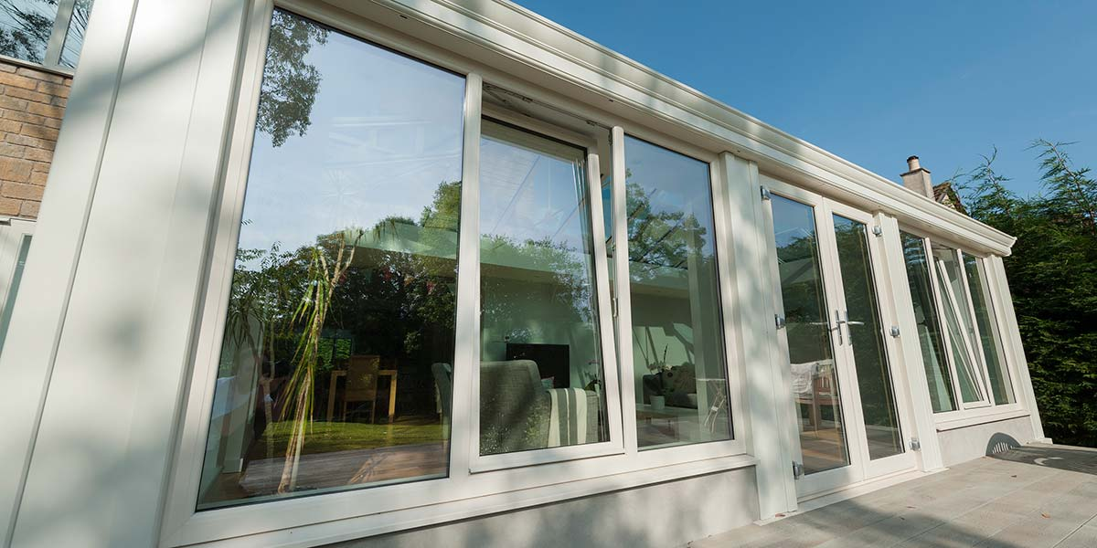 Large Loggia Conservatory With French Doors Permaframe