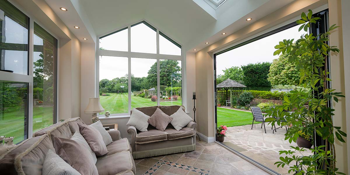 Tiled Roof Extension Internal Image With Garden View