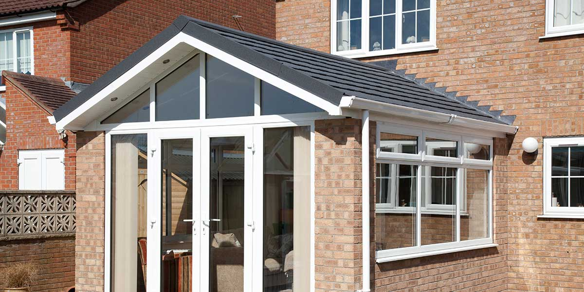 Tiled Roof Orangery with French Doors